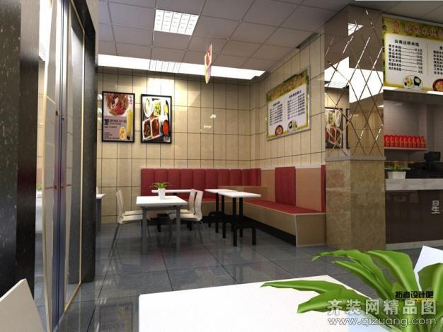150平米快餐店装修图