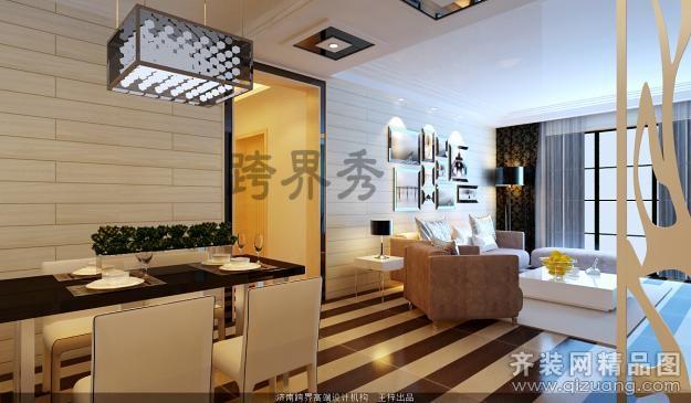 160平米复式户型现代简约家装装修图片设计-济南齐装