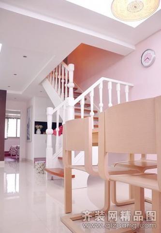 100平米跃层户型现代简约家装装修图片设计-武汉齐装
