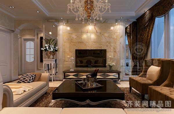 127平米普通户型欧式风格家装装修图片设计-郑州齐装