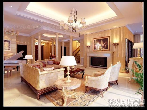 465平米别墅欧式风格家装装修图片设计-天台齐装网