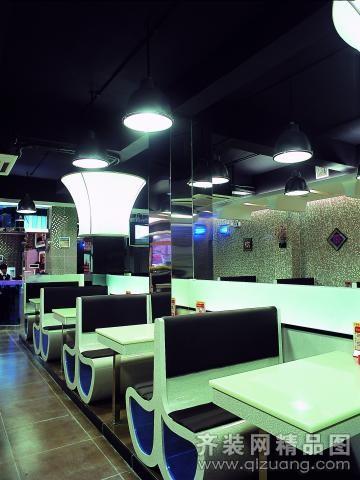 金皇港茶餐厅现代简约装修效果图实景图