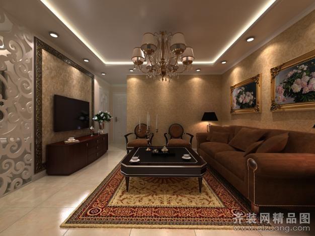 92平米普通户型欧式风格家装装修图片设计-青岛齐装