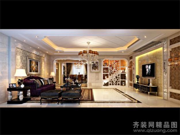 510平米别墅欧式风格家装装修图片设计-金华齐装网