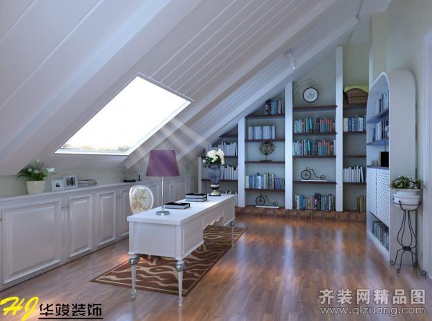 87平米复式户型现代简约家装装修图片设计-合肥齐装网