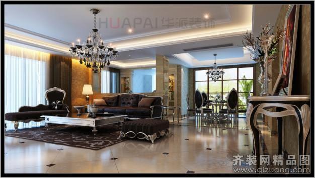 328平米别墅欧式风格家装装修图片设计-温州齐装网