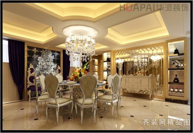 389平米别墅欧式风格家装装修图片设计-温州齐装网