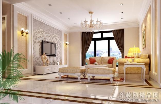 220平米别墅欧式风格家装装修图片设计-太仓齐装网