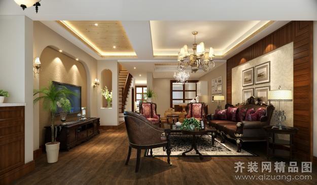 210平米别墅欧式风格家装装修图片设计-苏州齐装网