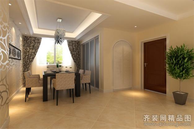 120平米普通户型欧式风格家装装修图片设计-扬州齐装