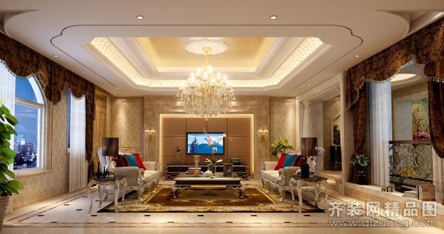 280平米别墅欧式风格家装装修图片设计-台州齐装网