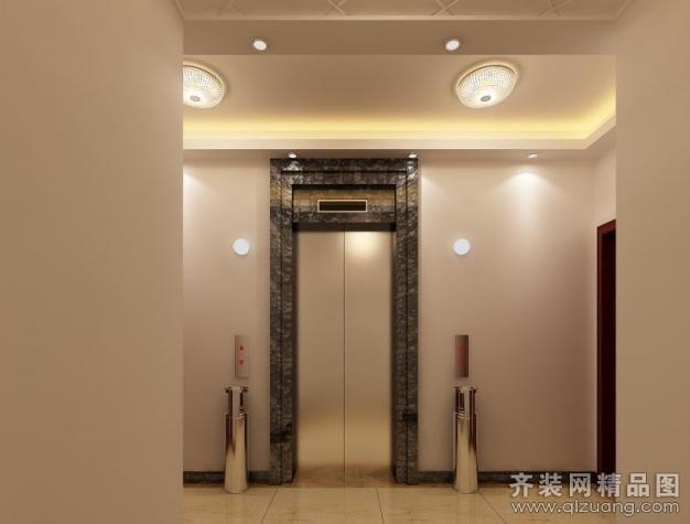 公共电梯间现代简约装修效果图实景图