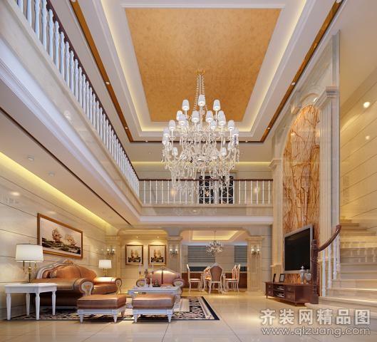 280平米跃层户型欧式风格家装装修图片设计-江阴齐装