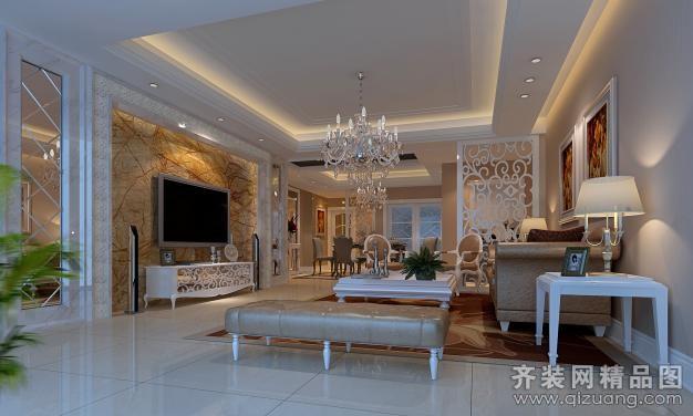 350平米别墅欧式风格家装装修图片设计-江阴齐装网