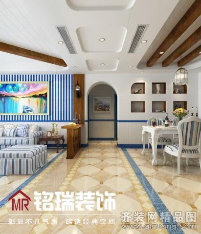 120平米普通户型地中海风格家装装修图片设计-南通齐