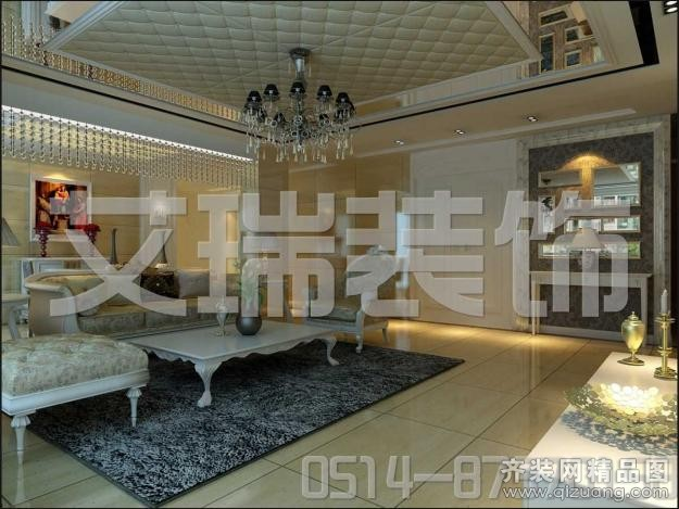 113平米普通户型欧式风格家装装修图片设计-扬州齐装