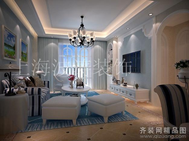 250平米别墅欧式风格家装装修图片设计-扬州齐装网