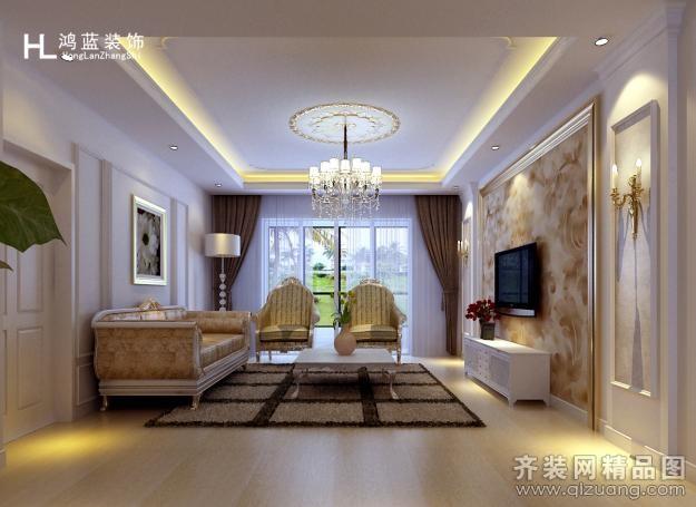 140平米跃层户型欧式风格家装装修图片设计-连云港齐