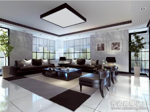 办公室600平米普通户型欧式风格家装装修图片设计-齐