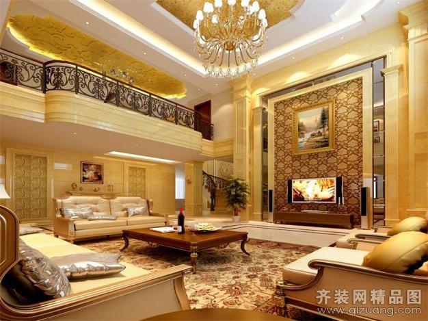 300平米别墅欧式风格家装装修图片设计-诸暨齐装网