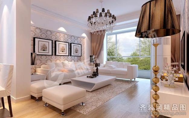 110平米普通户型欧式风格家装装修图片设计-青岛齐装