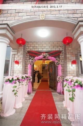 结婚户外酒会餐台布置欧式风格