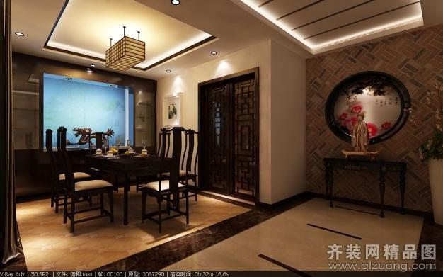 260平米别墅中式风格家装装修图片设计-青岛齐装网
