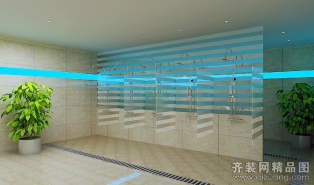 水天一色浴室