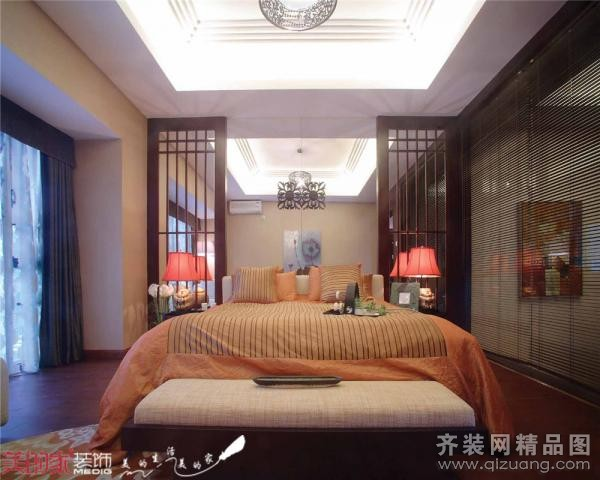 【美的家装饰】(中式),米色调中式风格装修效果图实景图