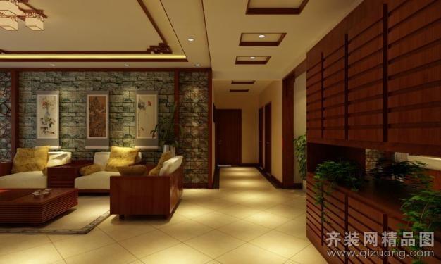 110平米普通户型中式风格家装装修图片设计-青岛齐装