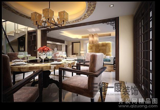 250平米复式户型中式风格家装装修图片设计-常熟齐装