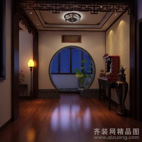 275平米别墅中式风格家装装修图片设计-无锡齐装网