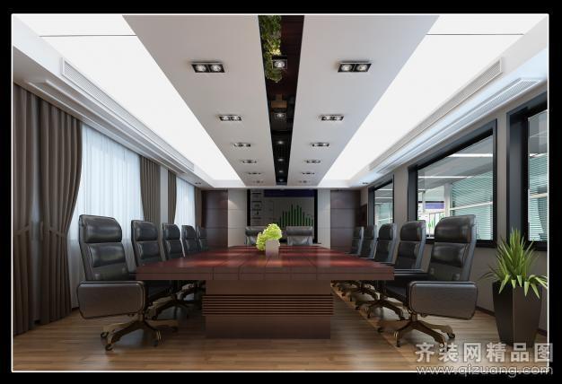 办公楼中式风格装修效果图实景图