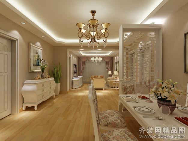 98平米普通户型欧式风格家装装修图片设计-扬州齐装