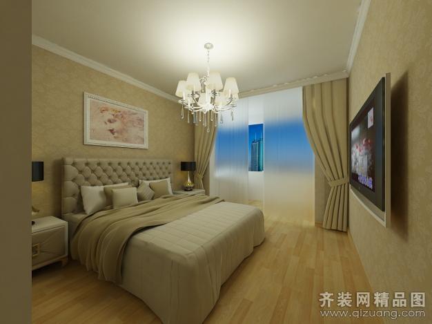 98平米普通户型欧式风格家装装修图片设计-扬州齐装网