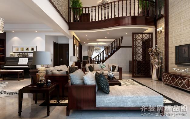 110平米跃层户型欧式风格家装装修图片设计-南通齐装
