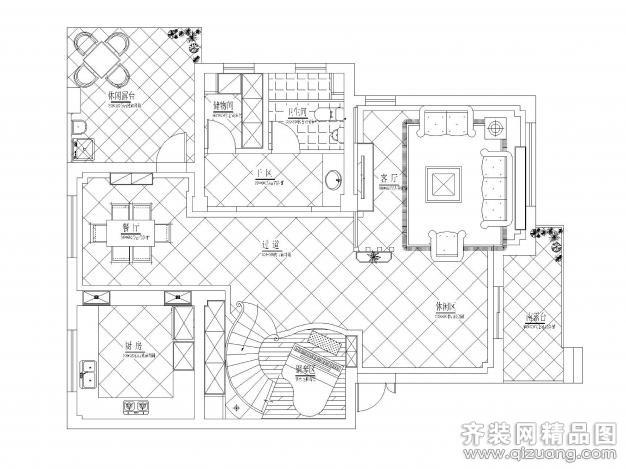 253平米别墅欧式风格家装装修图片设计-建德齐装网
