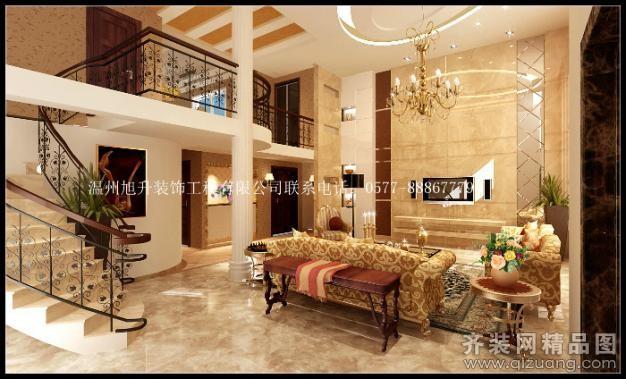 280平米别墅欧式风格家装装修图片设计-温州齐装网