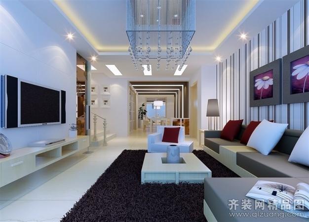 126平米躍層戶型現代簡約家裝裝修圖片設計-姜堰齊裝