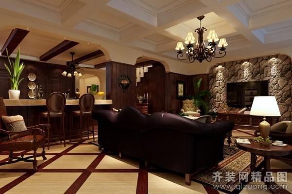 120平米普通戶型美式風格家裝裝修圖片設計-海安齊裝
