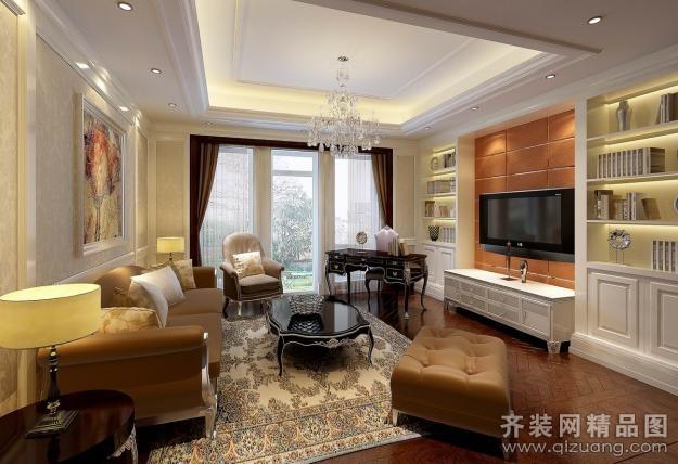 400平米别墅欧式风格家装装修图片设计-杭州齐装网