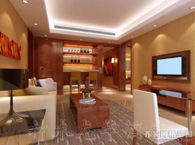 6000平米普通户型欧式风格家装装修图片设计-西安齐