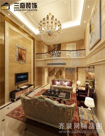 280平米跃层户型欧式风格家装装修图片设计-平阳齐装