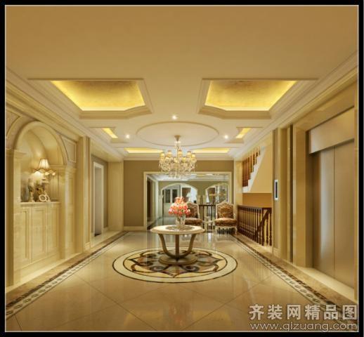 260平米别墅欧式风格家装装修图片设计-温州齐装网