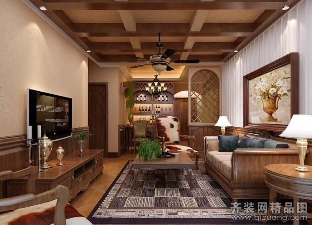 100平米普通户型美式风格家装装修图片设计-温州齐装图片