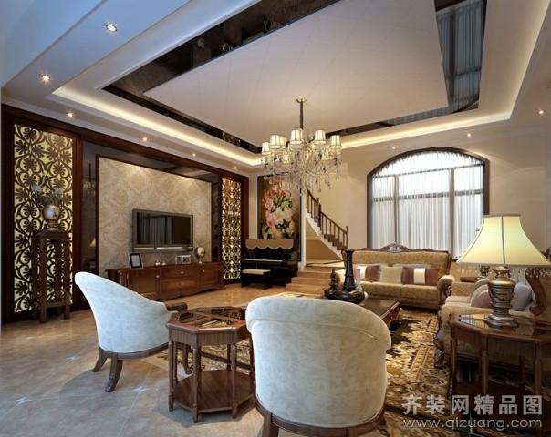 240平米跃层户型美式风格家装装修图片设计-苍南齐装图片