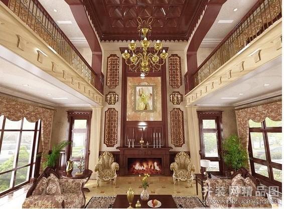 500平米别墅中式风格家装装修图片设计-吴江齐装网