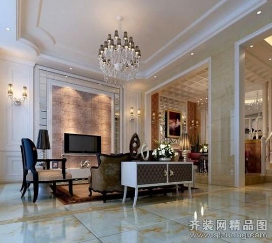 320平米别墅现代简约家装装修图片设计-南京齐装网