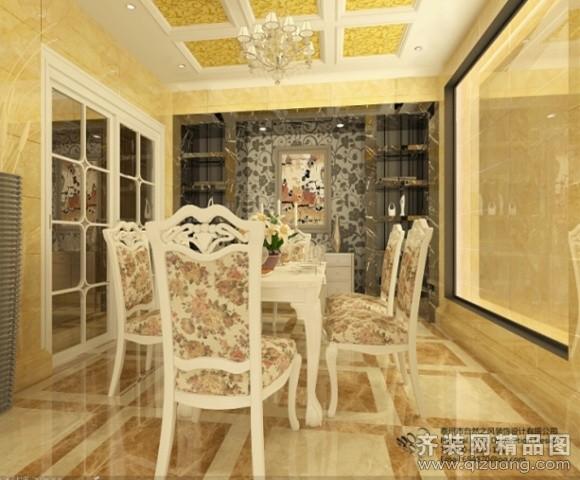 300平米别墅欧式风格家装装修图片设计-姜堰齐装网