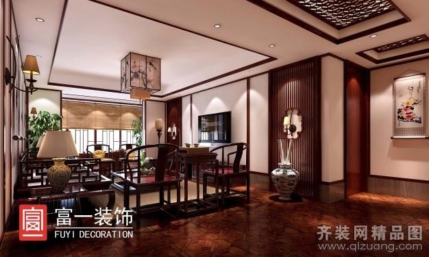桂花公园店面中式风格装修效果图实景图